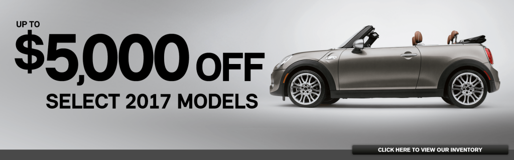 Up To 5 000 Off Msrp On Select 2017 Mini Models At Of Montgomery County