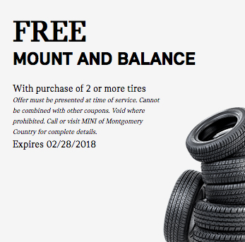 Free Tire Mount And Balance Mini Of Montgomery County Blog